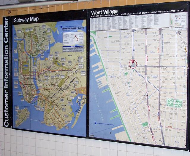 West village celebrity maps
