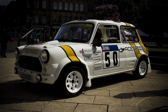 Classic Mini Cooper race/rally car