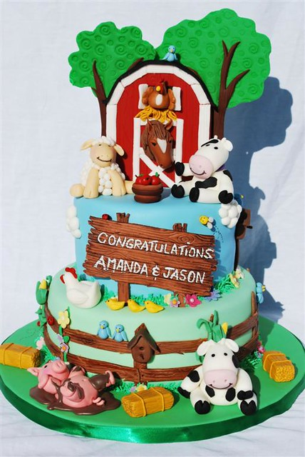 Cake Decoration Farm Theme : Farm Theme Baby Shower Cake Flickr - Photo Sharing!