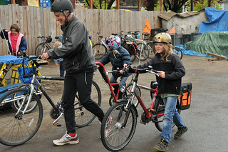 Trillium Charter School bike train-24-19