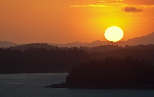 sunset sea canada islands britishcolumbia layers princerupert canadapt