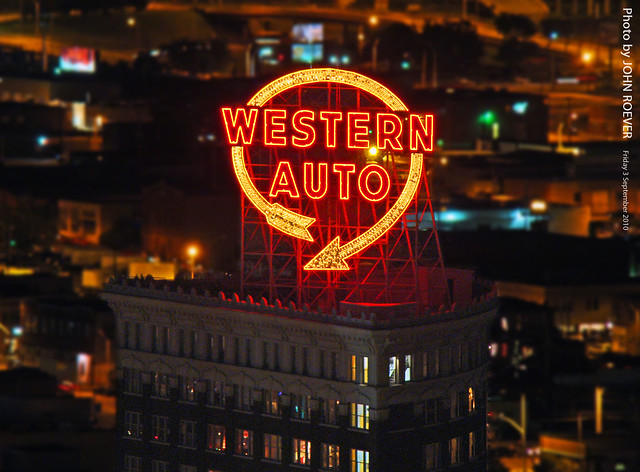 Western Auto Sign At Night 3 Sept 2010 Flickr Photo Sharing