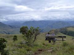 Malolotja Nature Reserve - Birte og Puk ved Logwaja Viewpoint