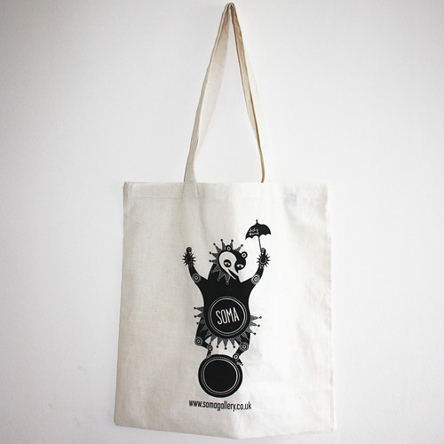 Dancing Bear tote bag by Lesley Barnes for Soma