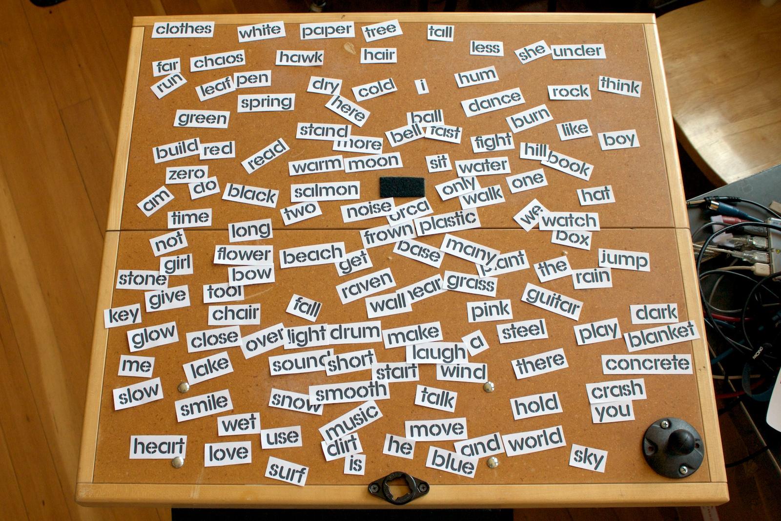 Word Wall - Word Cutups (Still In Progress)