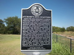 Photo of Journey's End Cemetery, Burkburnett, TX black plaque