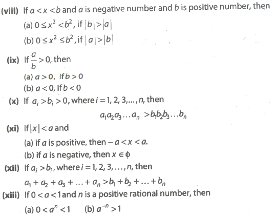 CBSE Class 11 Maths Notes : Quadratic Equations and Inequalities