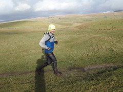 Tom on the final descent from Ingleborough Image