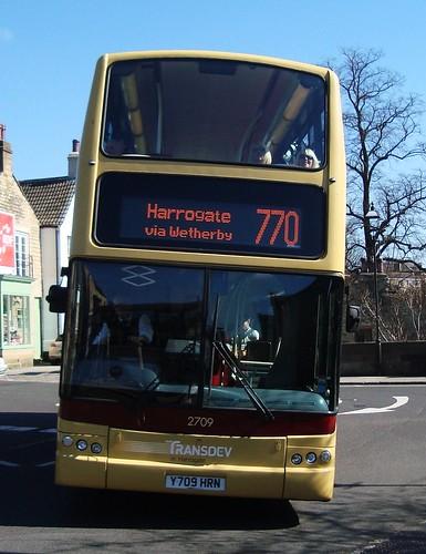 Wetherby ... Y709 HRN TRANSDEV in Harrogate bus.