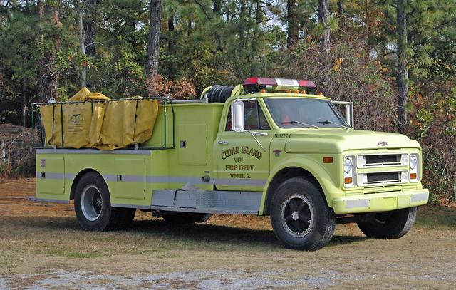 Cedar Island VFD Tanker 2 Chevrolet C50 Fire Truck