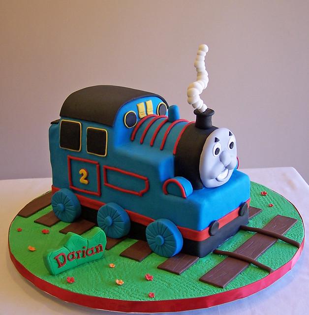 3d thomas the train cake