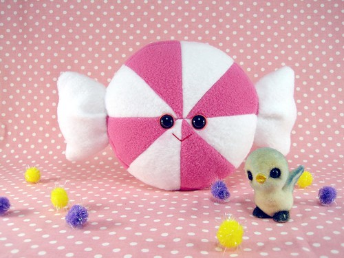 perfectly pink peppermint plush