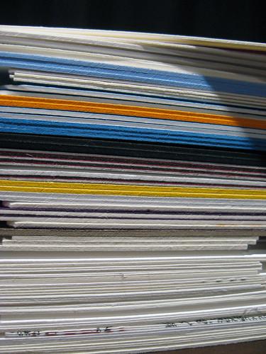 Letterpress Business Card Stack - Closeup