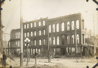 Fire Damage, Dayton, OH - 1913 Flood