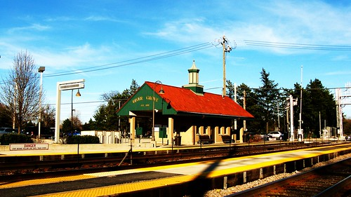 The River Grove Metra commuter rail station.  River Grove Illinois USA. Tuesday, April 12th, 2011. by Eddie from Chicago