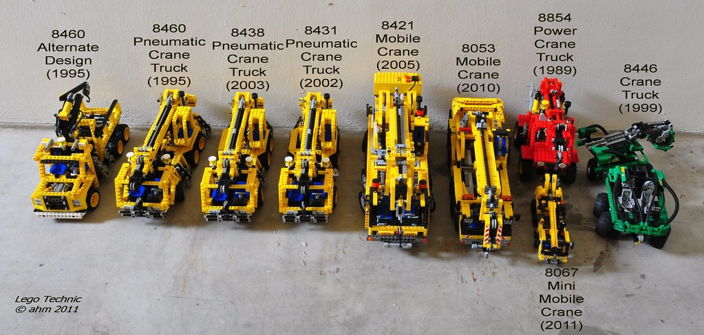 Lego Technic Cranes A Photo On Flickriver