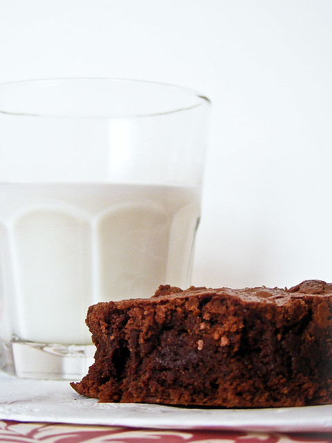Double Chocolate Brownie and Milk