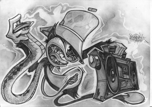 "Woodoo B-cat, Snakecan and Boombox blastin Paris ""Sleepin with the Enemy!"""