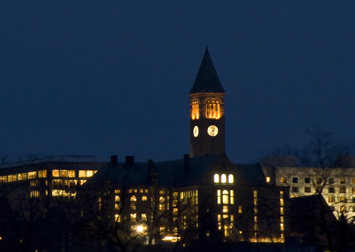Uris Library at Night