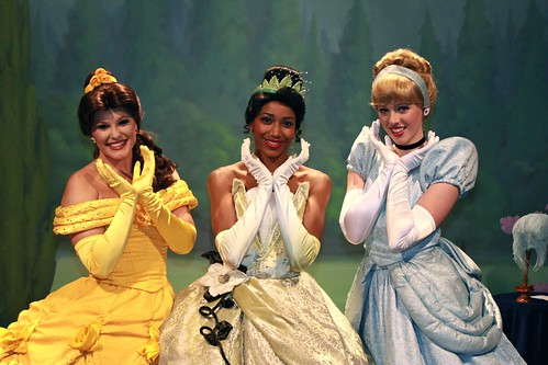 Belle, Tiana and Cinderella