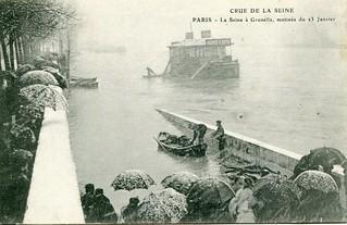 Crue de la Seine. Paris. La Seine à Grenelle, matinée de 23 Janvier (23 January, 1910)