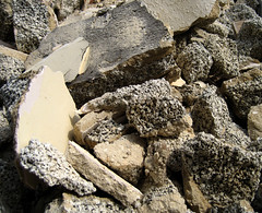rubble, igneous rock, geology, bedrock, rock,