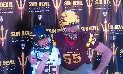Sun Devil fans rockin the new uniforms at the Spring Game