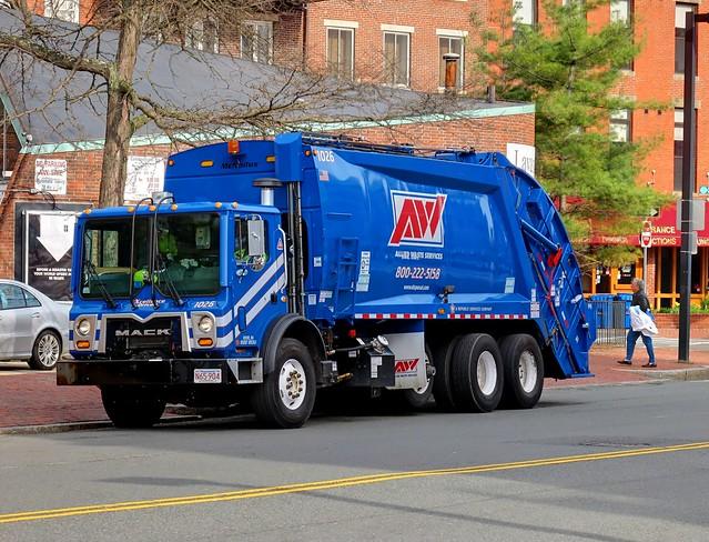 Mack Garbage Truck Boston Massachusetts Usa By