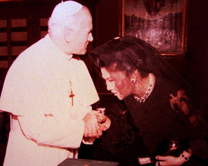 Papal visit to His Holiness Pope John Paul II
