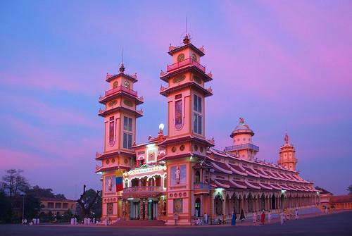 sunset temple vietnamese vietnam caodai stockphotography tayninh travelphotography vinapix vietnamtravel vietnamimagelibrary ianmorton vietnamtourist imagevietnampicture