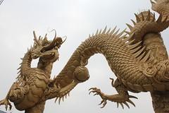 carving, art, sculpture, dragon, statue,