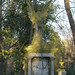 Small photo of Memorial sculpture in Abney Park Cemetery