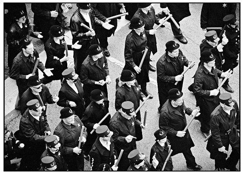 Police Marching to Disperse Anarchists - Haymarket Riot 125 - Daguerreotype