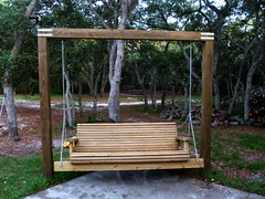 outdoor structure, furniture, wood, swing,