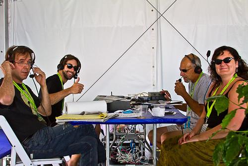 Dean Ellis, Bradley Blanchard, Al Lasky  & Laura Dedleaux - Live broadcast from the WWOZ Hospitality Tent