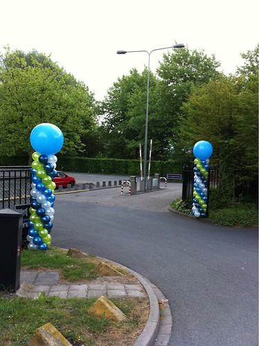 Ballonpilaar Breed Rond Opening Diemerbos Amsterdam