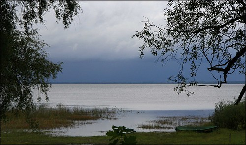 lake water cloudy latvia burtnieki