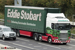 Scania R440 6x2 Tractor with 3 Axle Curtainside Trailer - PK11 LZP - Sophie Elise - Eddie Stobart - M1 J10 Luton - Steven Gray - IMG_3802