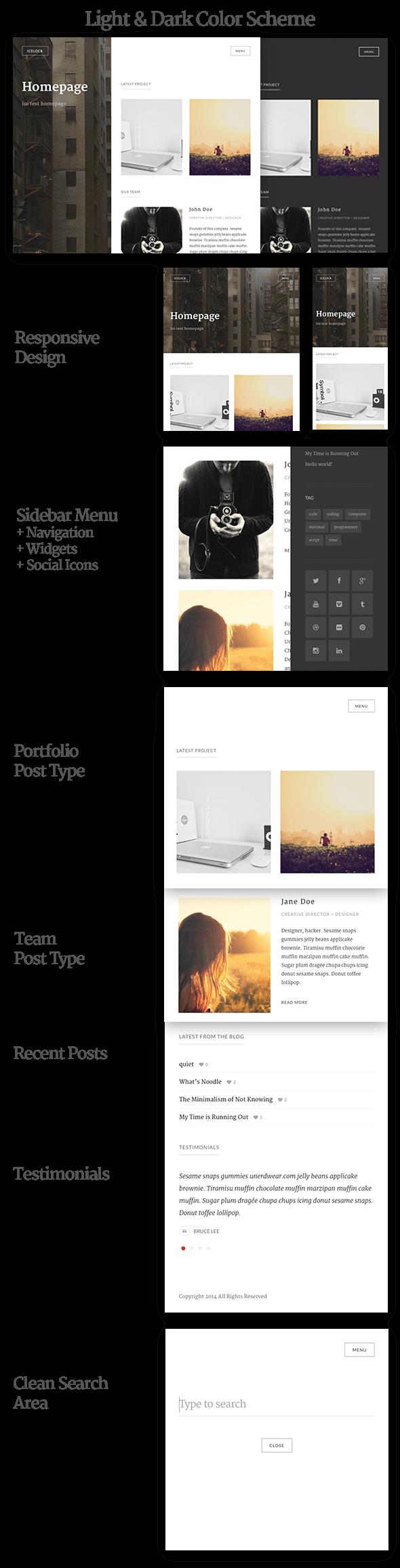 Icelock - Portfolio WordPress Theme