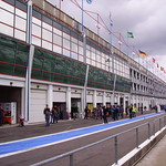 Paddock at the circuit de Nevers Magny-Cours