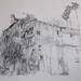 הבית ליד בניין העיריה וגן המושבה מול היקב by Hava Matzkin Eilam Art
