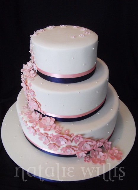 navy blue and pink wedding cake pink and navy wedding cake a photo on flickriver 17757