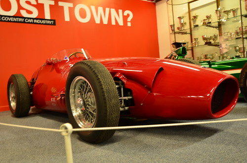Front-right of the 1955 Maserati 250F F1 car