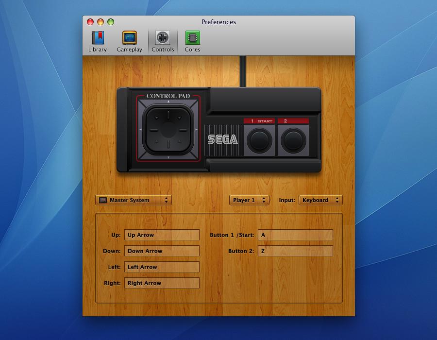OpenEmu - Preferences - Master System