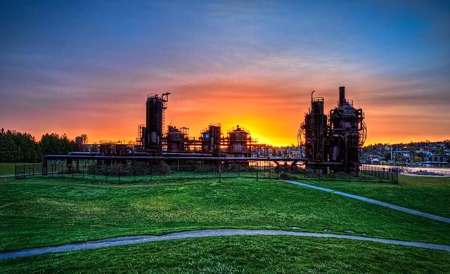 Gasworks Park Sunrise HDR