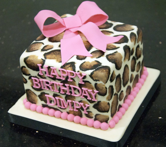 Leopard Design Birthday Cake Prezup for