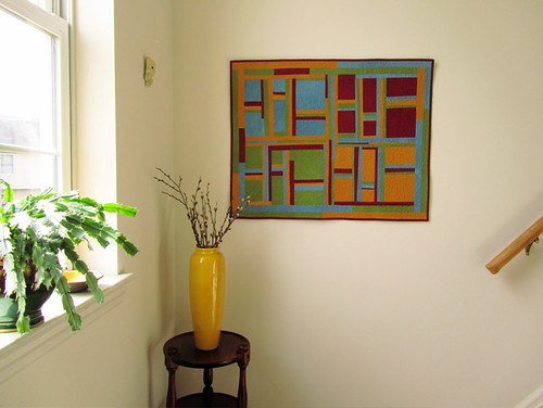 """Four Seasons"" - Modern Improvised Art Quilt"