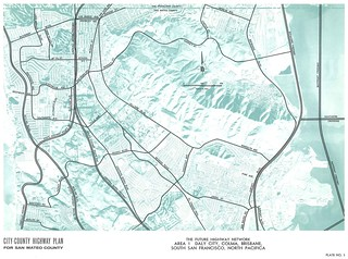 City-County Highway Plan for San Mateo County: The Future Highway Network, Area 1: Daly City, Colma, Brisbane, South San Francisco, North Pacifica (1962)