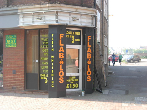 19 High street, Sittingbourne, after 18 months Flabelos replaces Gold Shop, April, 2011