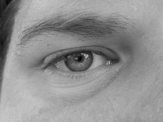 Right Eye - B&W